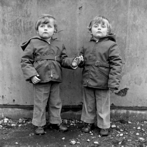 Portrait from the Free Photographic Omnibus: Barrow-in-Furness. Twin brothers: Michael & Peter McParland, 1974