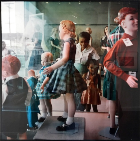 Ondria Tanner and her grandmother window shopping, Mobile, Alabama 1956.jpg